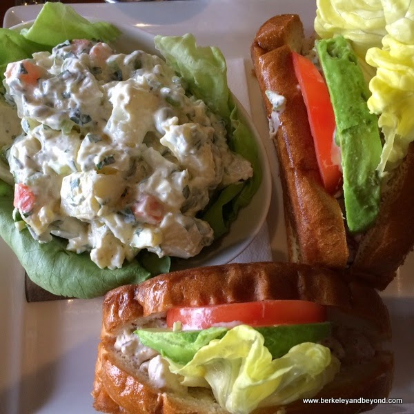 chicken salad sandwich at Trader Vik's in Emeryville, California