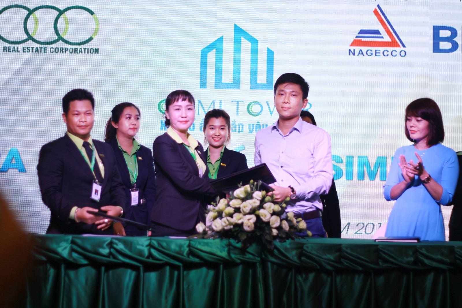 Hình ảnh ký kết phân phối độc quyền giữa Chủ đầu tư Sông Đà và Công ty 3C