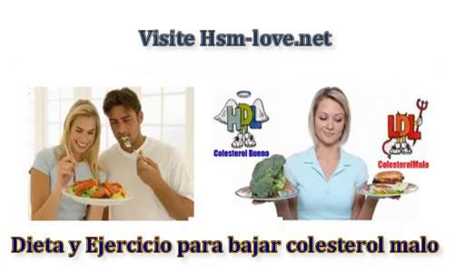 Dieta y ejercicio para bajar colesterol