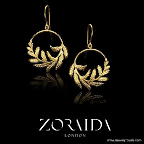 Kate Middleton wore Zoraida gold earrings
