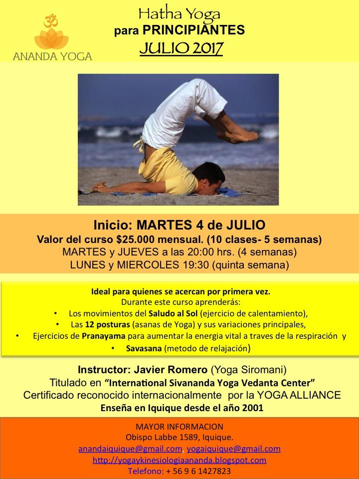 CURSO DE HATHA YOGA para PRINCIPIANTES JULIO 2017  d6ad1d379211