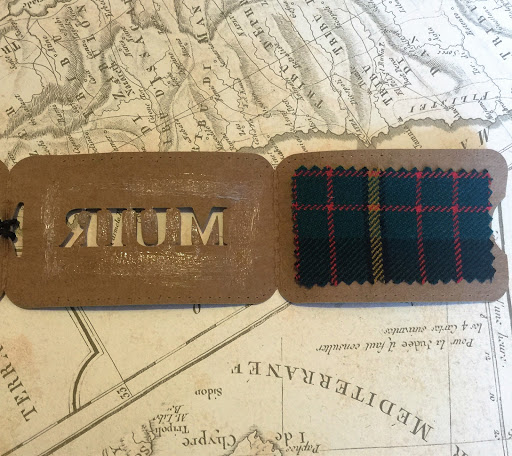 DIY Luggage Tag Tutorial by Nadine Muir for Silhouette UK using faux leather paper and tartan