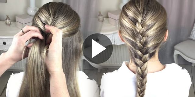 Learn - How To Create French Braid Hairstyle, See Tutorial