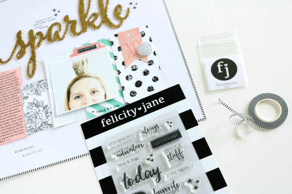 Sparkle | Scrapbooking Layout | Felicity Jane März Kit