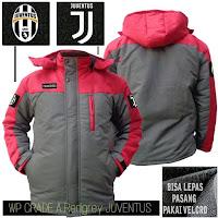 Jual Jaket Bola Waterproof Juventus Grade A Logo Velcro Murah