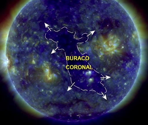 Buraco Coronal de frente pra Terra - 06 de julho de 2017
