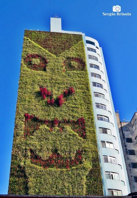 Vista ampla do Jardim vertical do Edifício Santa Filomena - Vila Buarque - São Paulo