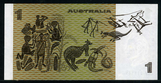Australian bank notes currency dollar bill coin