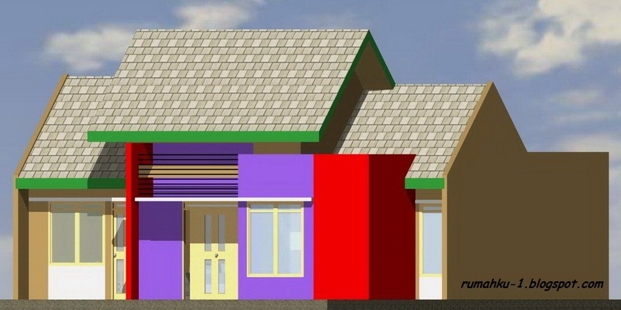 gambar denah rumah type 200 4 4