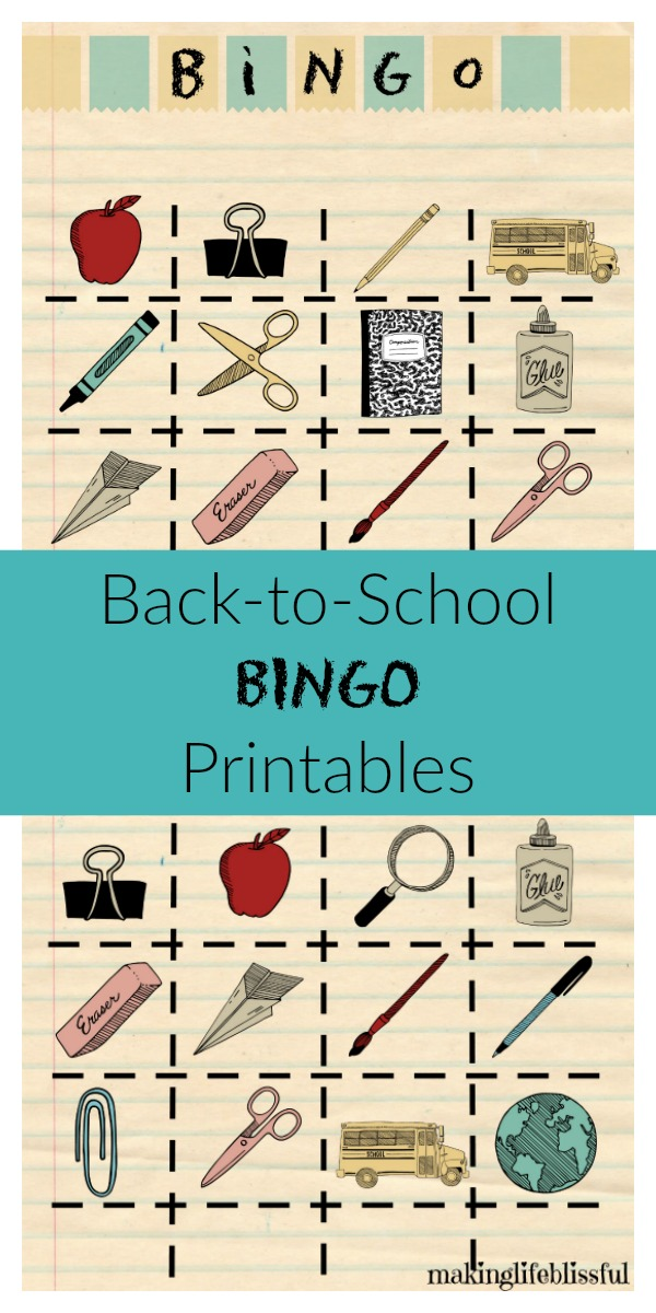 Sly image pertaining to back to school bingo printable