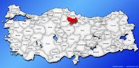 Amasya ilinin Türkiye haritasında gösterimi