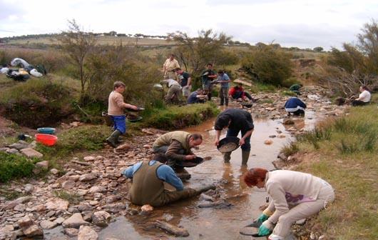 Geolog U00cdas De Extremadura  Excursi U00f3n De Bateo De Oro En