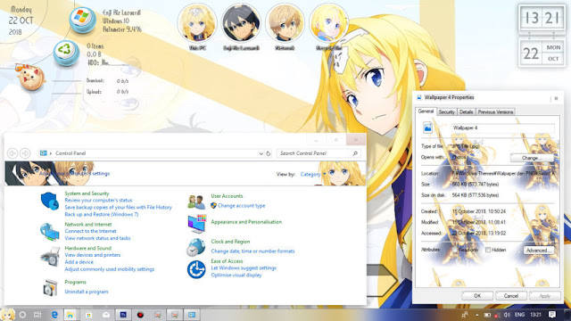 Windows 10 Ver. 1803 Theme Sword Art Online: Alicization by Enji Riz Lazuardi