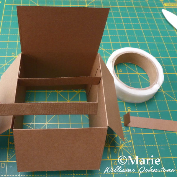 Adding the inside tabs to the pop up box card die set craft card making