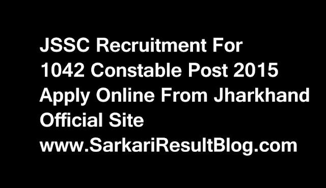 JSSC Constable 2015