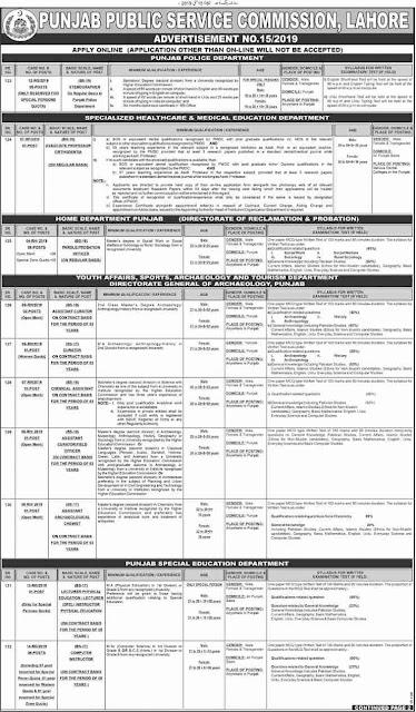 PPSC Jobs 2019 /Punjab Public service commission Latest Advertisement