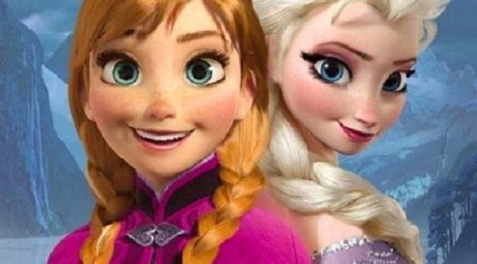 Gambar Frozen Putri Anna dan Putri Elsa Film Terbaru Walt Disney