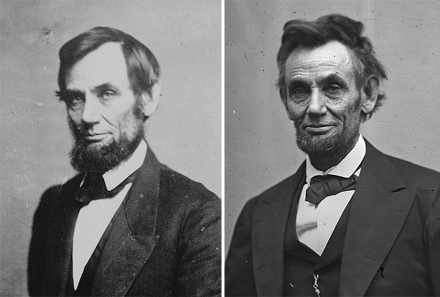 15 Before And After Photos Of US Presidents Depict How Their Job Transformed Them - Abraham Lincoln (1861-1865)