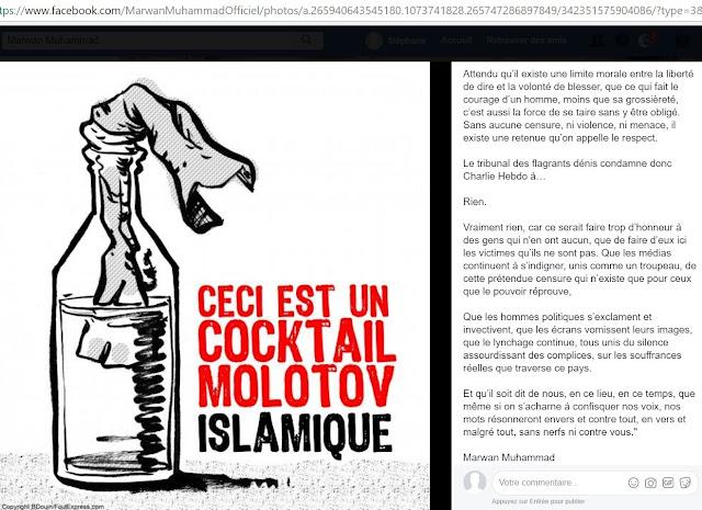 Texte haineux de Marwan Muhammad envers Charlie Hebdo publié 5 jours après le massacre publié en novembre 2011
