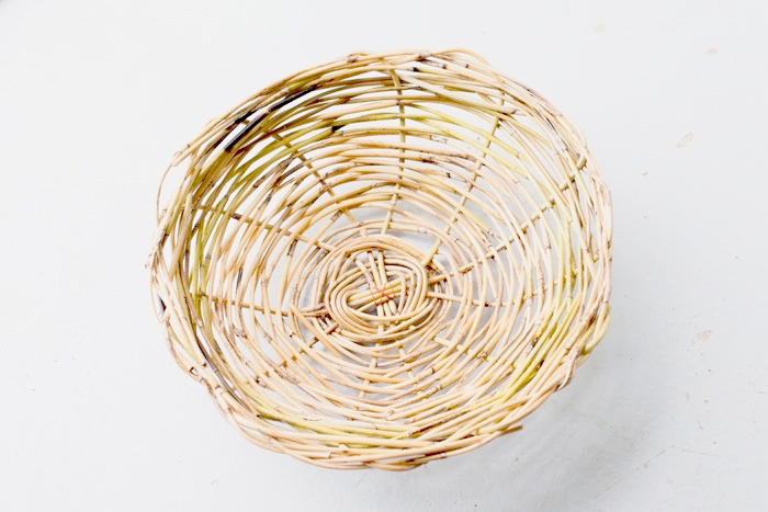 cane weaved basket