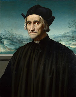 Girolamo Benivieni, pictured as an old man in a painting attributed to Ridolfo Ghirlandaio