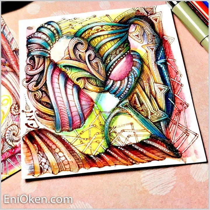 11-A-closer-view-Eni-Oken-Color-and-Black-and-White-Zentangle-Drawings-www-designstack-co