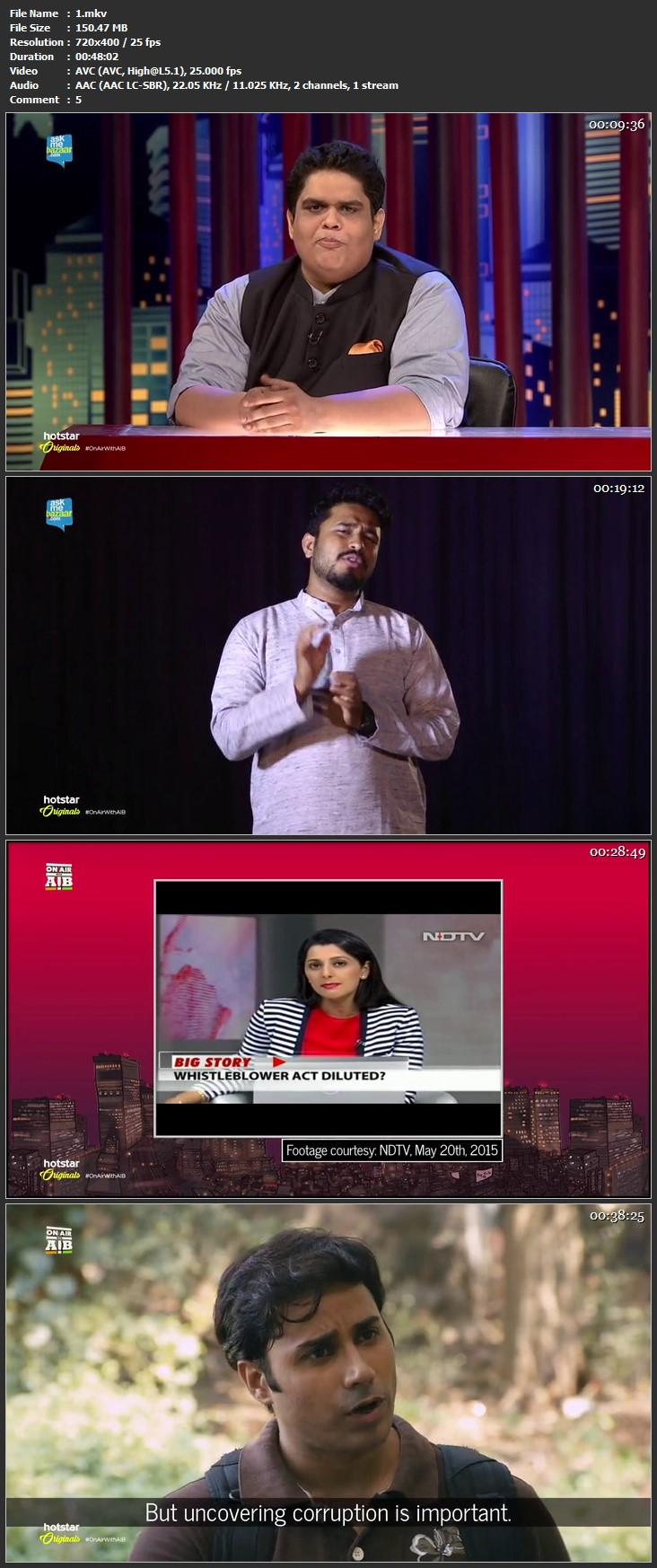 Download On Air With AIB 2015 150MB 480P WebHD All Episodes Of Season 1