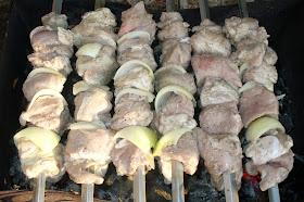 шашлык из свинины на кефире сырой