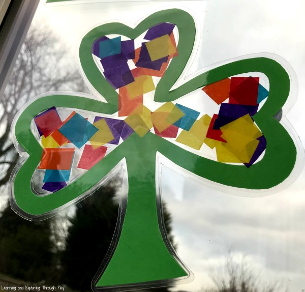 Shamrock Sun Catcher Craft