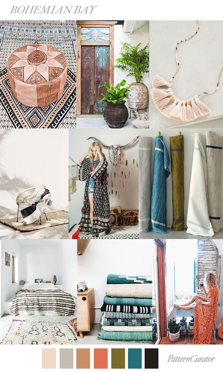 Interior Design Homes Winter 2019: TRENDS // PATTERN CURATOR - BOHEMIAN BAY . SS 2019