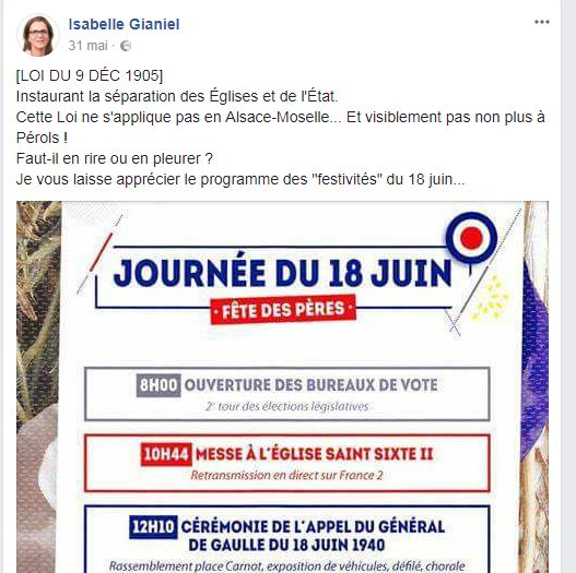 Isabelle Gianiel Facebook
