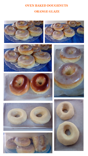 Oven Baked Dougnuts With Orange Glaze