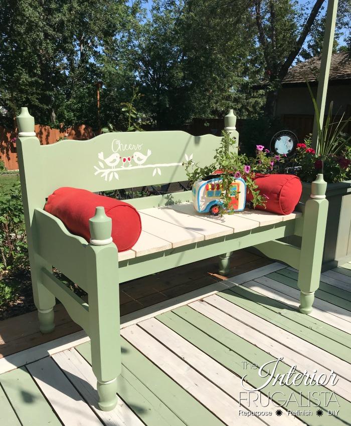 Playful Headboard Garden Bench