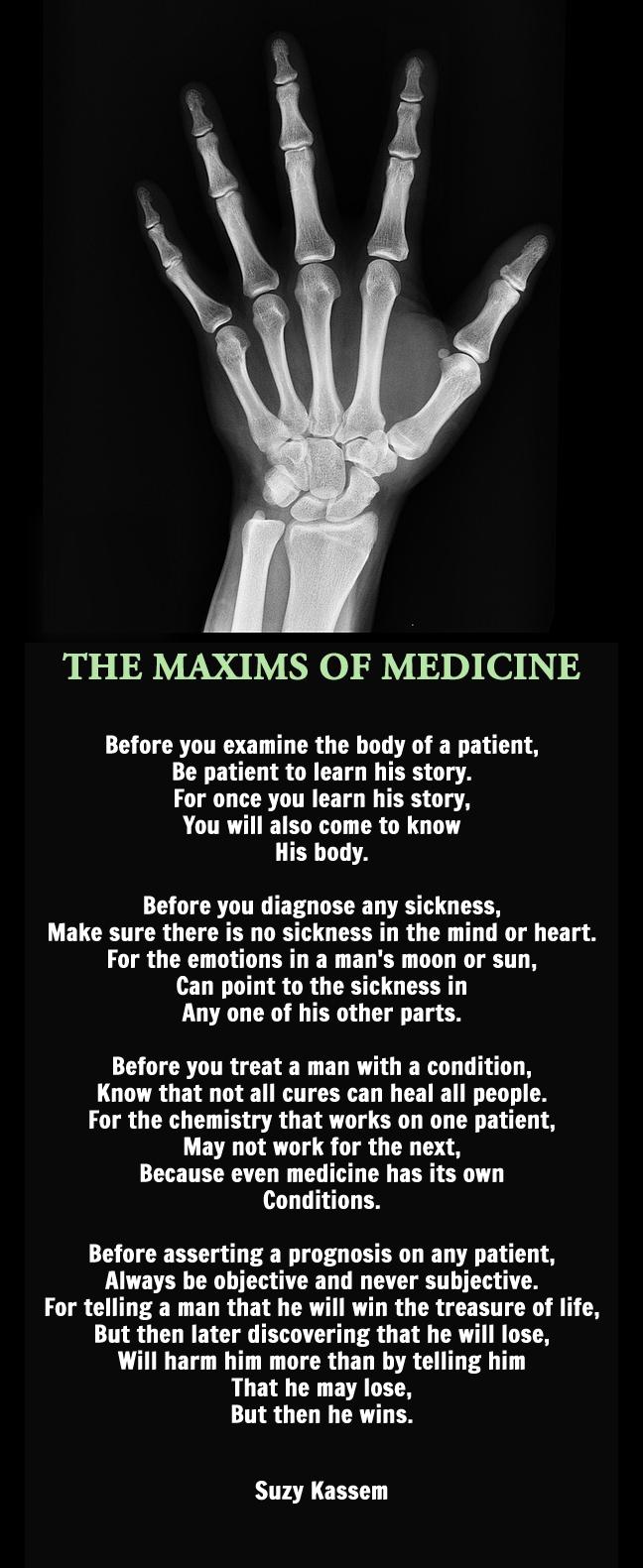 Maxims of Medicine