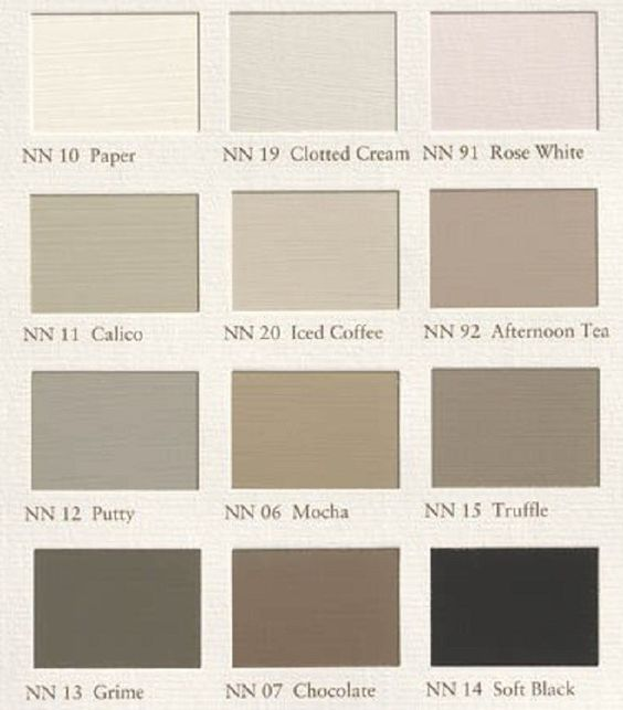 Paint color swatches Piet Boon