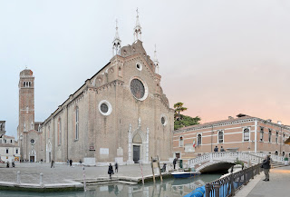 The Frari church in Venice, where Veracini gave his first public performance of one of his own compositions