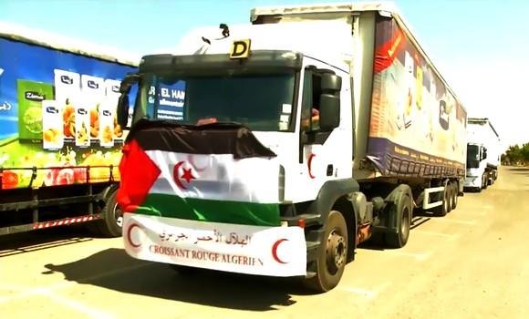 Une caravane d'aides alimentaires à destination des camps des réfugiés sahraouis