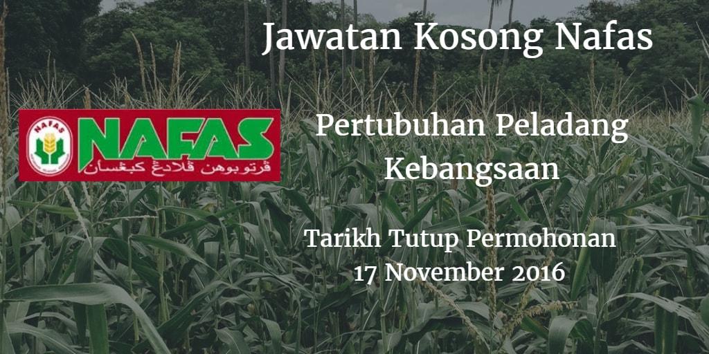 Jawatan Kosong Nafas 17 November 2016