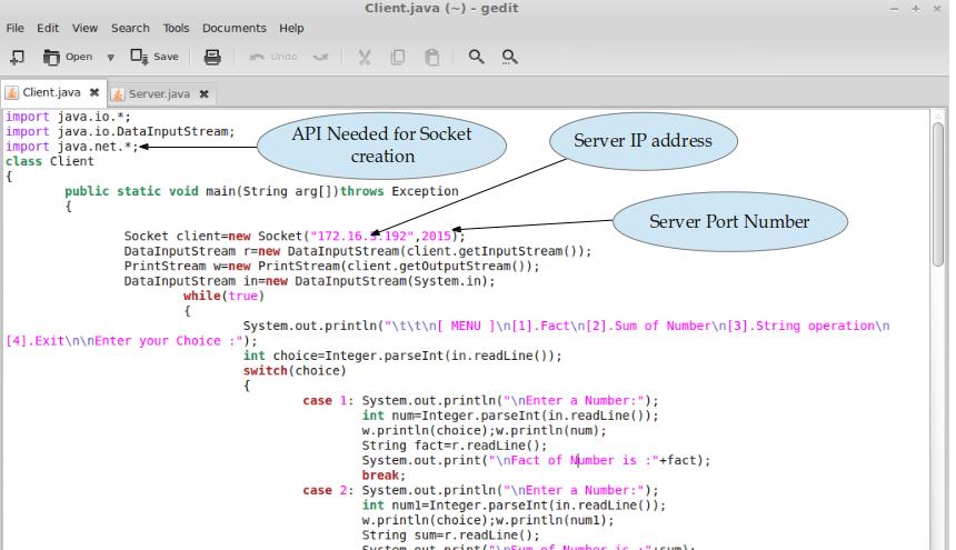 Client-Server Socket Programming in Java :: Sandip Foundation's