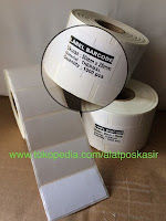 Stiker Kertas Label Barcode Thermal ukuran 50x25mm
