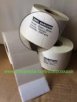 Stiker Kertas Label Barcode Thermal ukuran 50x25mm