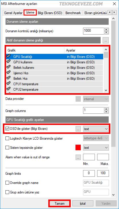 MSI Afterburner FPS Değeri Nasıl Gösterilir