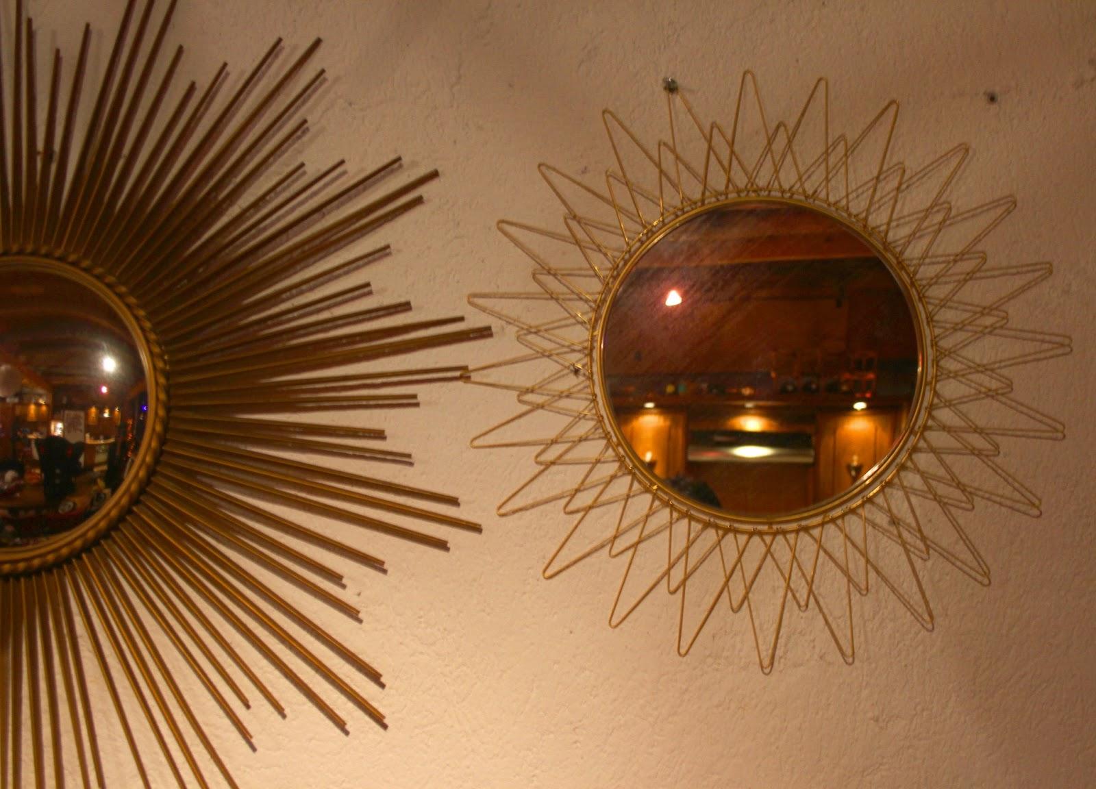 chicbaazar objets vintage 50 60 70 miroir soleil rayons pliables ann e 50 60 vintage. Black Bedroom Furniture Sets. Home Design Ideas