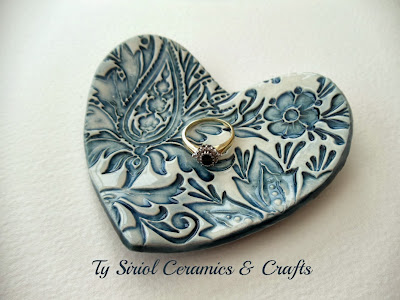 Heart ring dish by Ty Siriol Ceramics