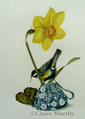 watercolour bird art