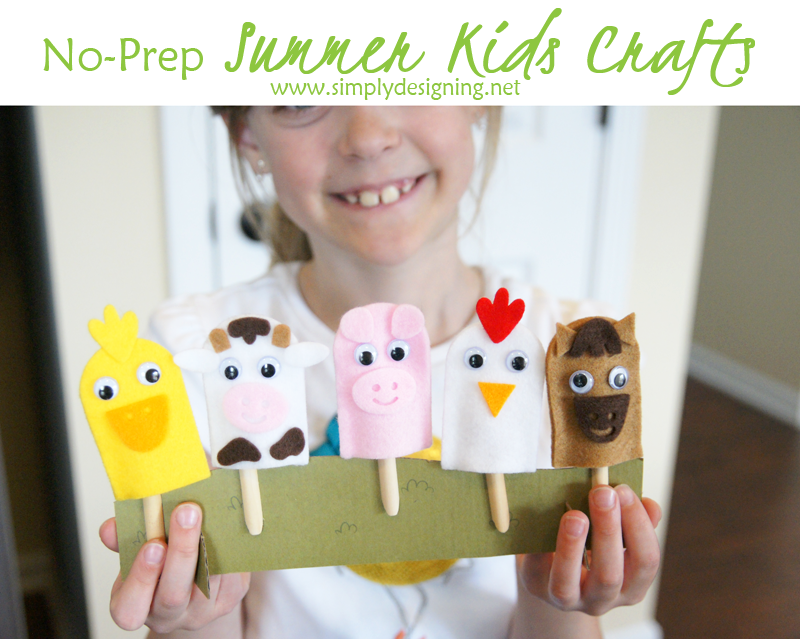 No-Prep Summer Kids Crafts | #kiwisummerfun #ad #kidscrafts #kidsactivity #summer