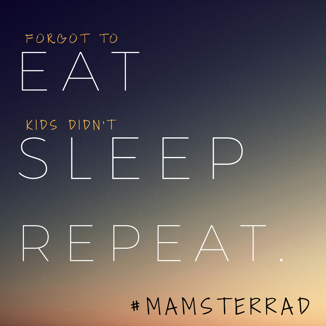 (Forgot to) Eat, (Kids didn't) sleep, Repeat.