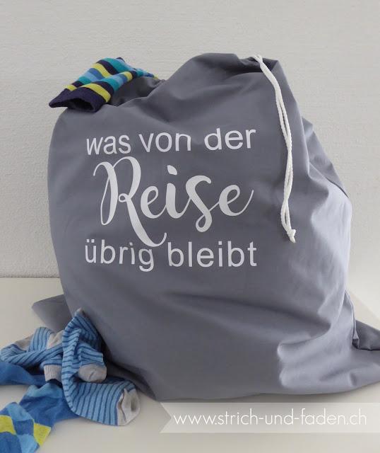 mit Strich und Faden: Wäschebeutel |was von der Reise übrig bielbt