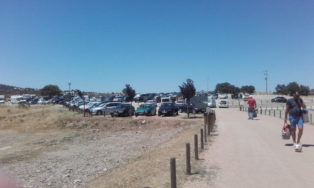 Parque de estacionamento Quase cheio