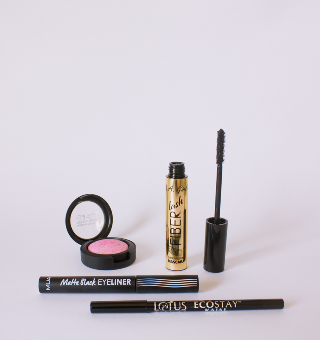 everyday-eye-makeup-kajal-matte-eyeliner-la-girl-fibre-lash-mascara-review